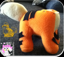 Growlithe Plushie WIP by Ami-Plushies