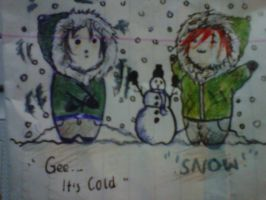 Frerard-Snow-Day! by GHOULISHGLOW