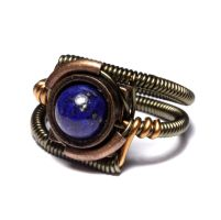 Steampunk Ring Lapis Lazuli by CatherinetteRings