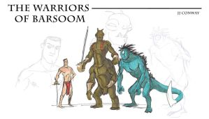 Warriors of Mars designs 01 by JJConway