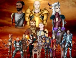 Dragon Age : Origins - Group by Blaqk-Artist-337