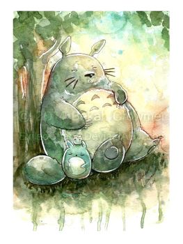 Indiana Comic Con Commissions - Totoro by ExiledChaos