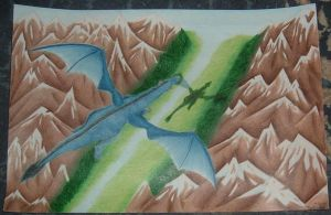 Soaring over a River Valley by Lady-KL