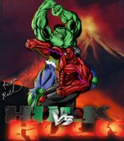 Hulk VS Hulk: Death Match by ruga-rell