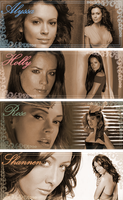Charmed Ones Actresses Set by clarearies13