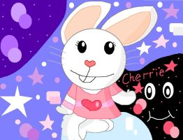 Cherrie the bunny -AT- by Kitty-Kat-Fairy