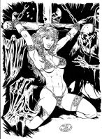 Pinup 5- Red Sonja by RudPatrocinio