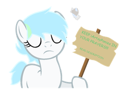 KEEP iArtsyPonies IN YOUR PRAYERS!! by M00NL1T-M4SK