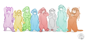 Free boys in Kigurumi (Onesie) by TaffyDesu