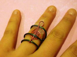 Treble Clef Ring by beadsofcompassion
