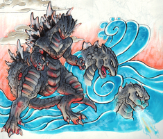 Godzilla Scroll by Liojen