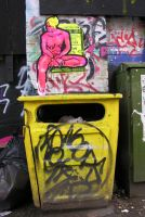 Pink figure paste-up by object000