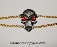 Skull Necklace by StudioFeniceImport