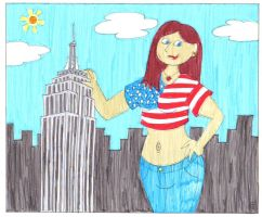 The Giantess In New York by EmperorNortonII