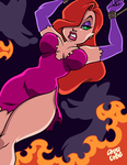 JESSICA RABBIT in PERIL by AnyaUribe