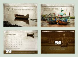 Calendar 2013 - Old Boats by freepsdcorner