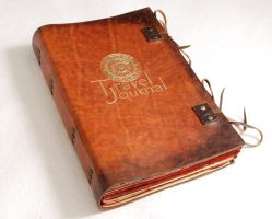 Leather travel journal by gildbookbinders