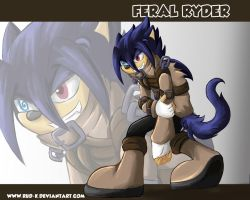 commission xXThatOneAngelXx 3: feral ryder by Rud-K