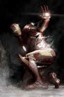Iron Man Pinned Down by BrianLindahl