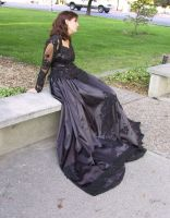 Black Ballgown Terra 30 by Falln-Stock