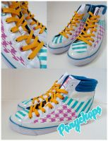 Houndstooth Hi Tops by ponychops