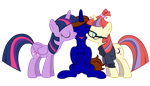 Twilight and MoonDancer Kisses Commission by Lightning-Bliss