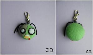 Plush Zombie Keyring by TheChgz