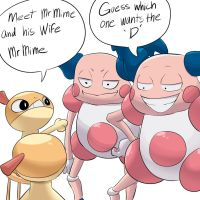Mr and Mrs mime