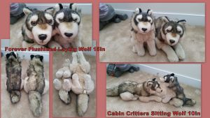 Cabin Critters and forever plushland Wolves! by Vesperwolfy87