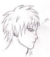 Naruto- Gaara With Piercings by tatsuyasaverem