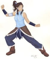 Korra for Collaboration with Pyro Painter by Yamigirl21