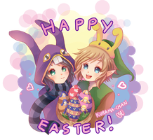 -- Zelda : Happy Easter -- by Kurama-chan