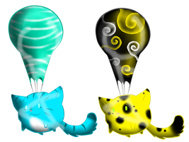Balloon Cat Adoptables CLOSED! by AmzyTheChangeling
