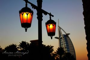 Burj Al Arab lights by amirajuli