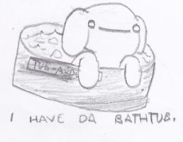The Journey to Happyness - Bathtub by cagstoon