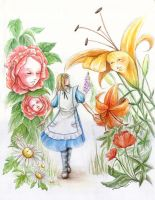 Alice in the Garden by pottedsean