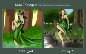 Draw This Again: Forest Nymph by zelaeii