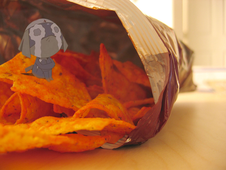 Dororo Alone in a bag of Doritos by TheFreeze812
