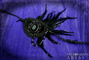 ABYSS Feathered Eyepatch by Necrosarium