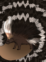 Crested Porcupine by aftertaster7