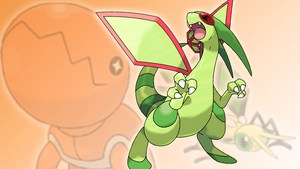 Trapinch, Vibrava and Flygon Wallpaper by Glench