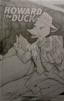 Howard the Duck commission by steelcitycustomart