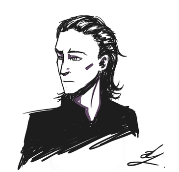 Just a Loki doodle by kittenmagic