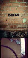 NIN graffiti by FoxInShadow