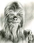 chewbacca sketch..... by bamboleo