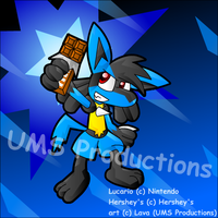 Super Chocolate -Lucario- by UMSAuthorLava