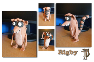 The Regular Show - Plasticine Rigby Model by Tommassey250