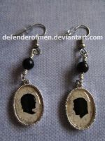 A Pair of Winchesters: Cameo Earrings by DefenderOfMen