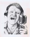 Robin Williams-Good Morning Vietnam -Rotring Pen by 3ftDeep