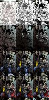 LOBO VS WOLVERINE STEP BY STEP by Sandoval-Art